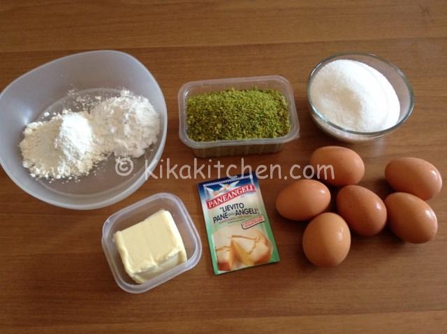 ingredienti torta al pistacchio