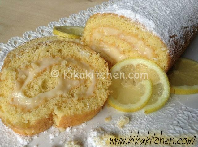 rotolo con crema di limone