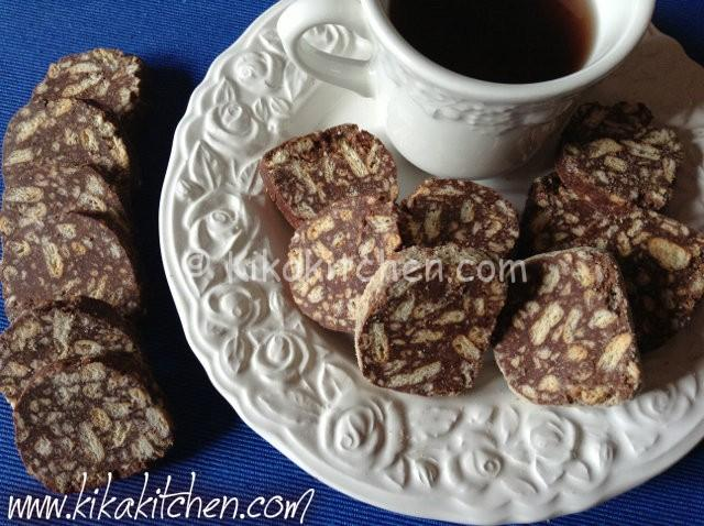 Salame al cioccolato (salame turco). Ricetta facile