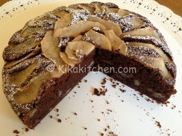 Torta pere e cioccolato alta morbida e soffice