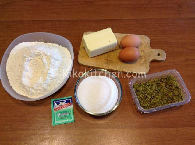 ingredienti crostata al pistacchio
