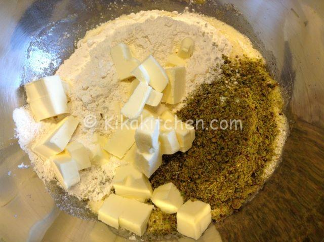 ingredienti per crostata al pistacchio
