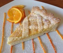 Crostata all'arancia morbida e friabile