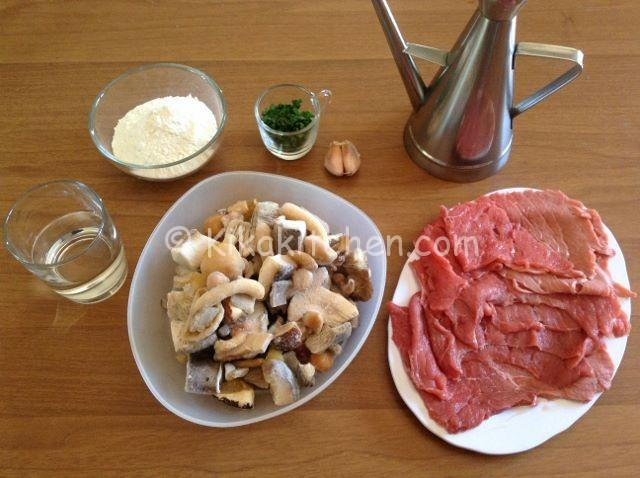 ingredienti scaloppine ai funghi