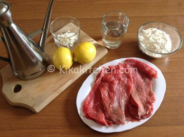 ingredienti scaloppine al limone