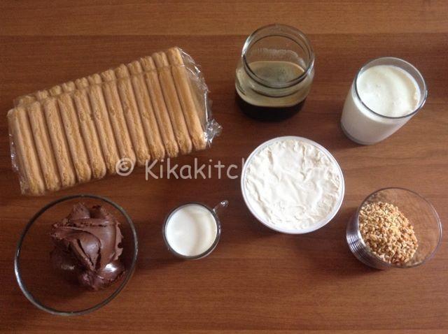 ingredienti tiramisù alla nutella