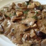 Scaloppine ai funghi (champignon, porcini o misto funghi)