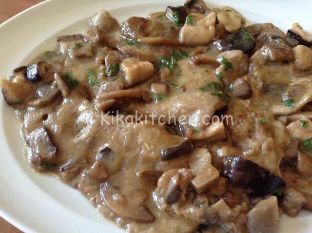 Scaloppine ai funghi champignon porcini o misto funghi for Ricette di cucina secondi piatti