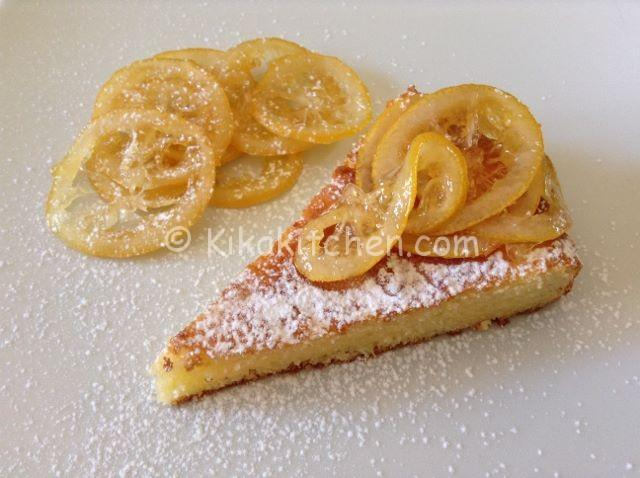 lemon cake with caramelized lemon