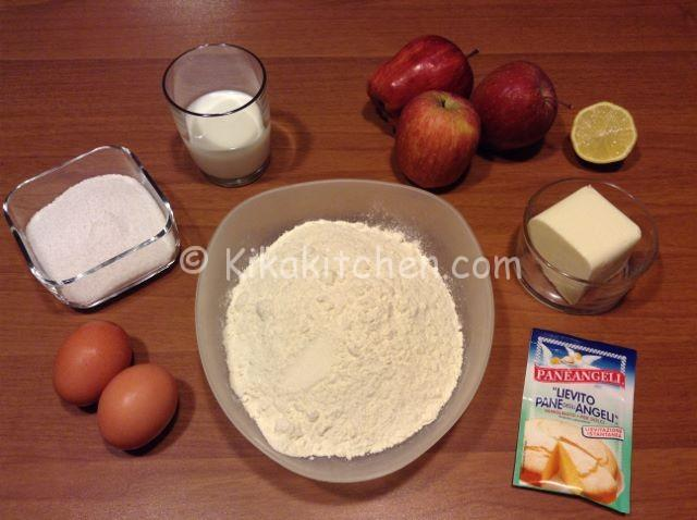 ingredienti plumcake alle mele
