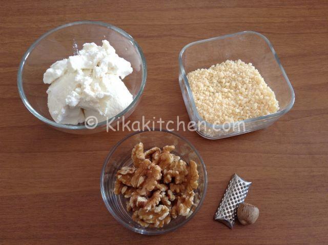 ingredienti ravioli ripieni di ricotta e noci