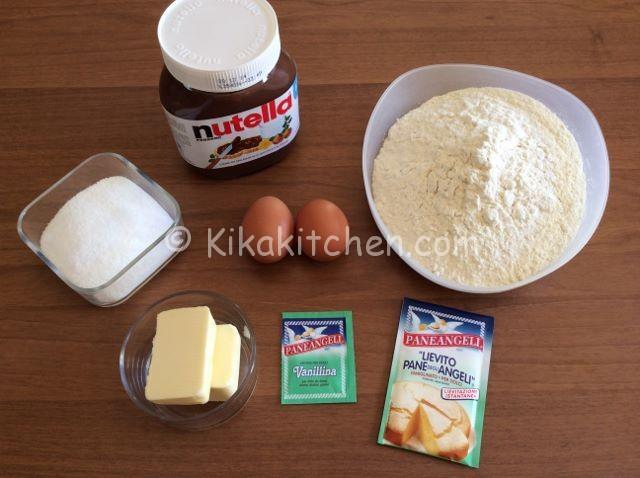 ingredienti sbrisolona alla nutella