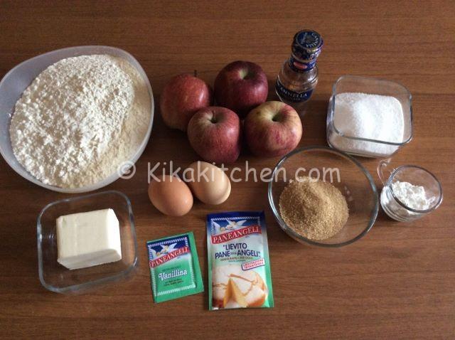 ingredienti torta sbriciolata mele