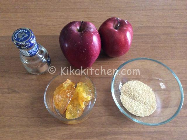 ingredienti biscotti cuor di mela
