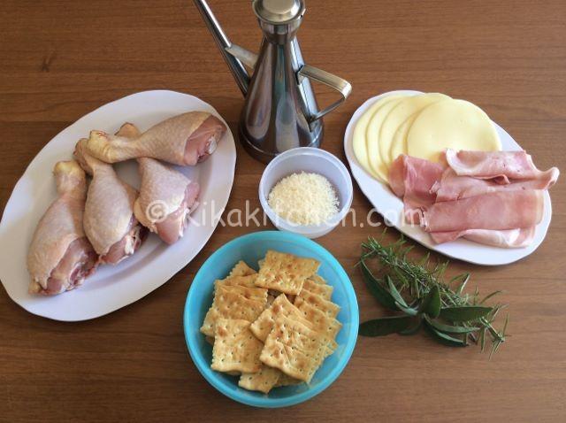ingredienti cosce di pollo ripiene