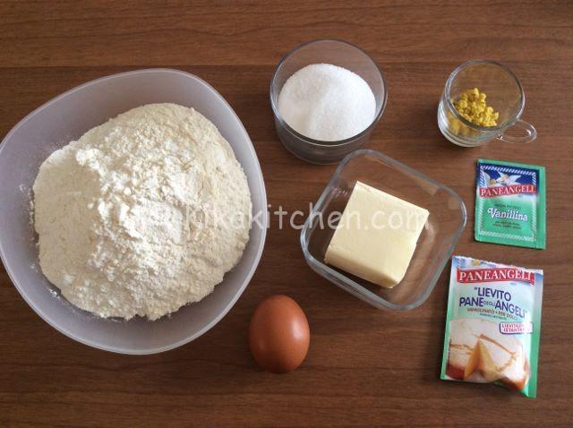 ingredienti per frolla biscotti a limone