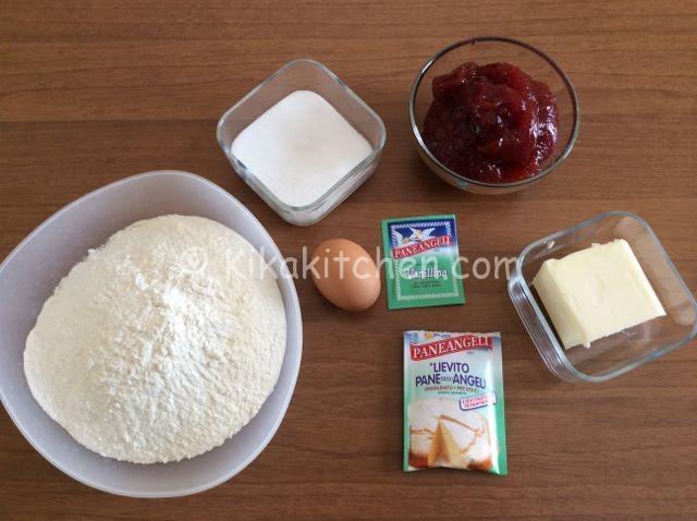 ingredienti rotolo di pasta frolla