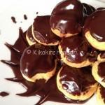 Profiteroles al cioccolato fondente. Ricetta passo passo