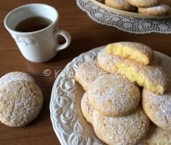 Biscotti ripieni al limone. Ricetta passo passo