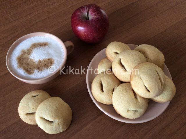 Biscotti cuor di mela fatti in casa. Ricetta passo passo