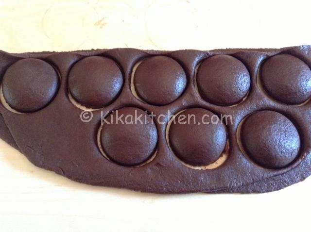 biscotti con pasta frolla al cacao