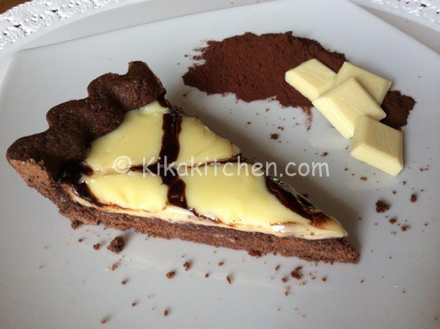 crostata con cioccolato bianco