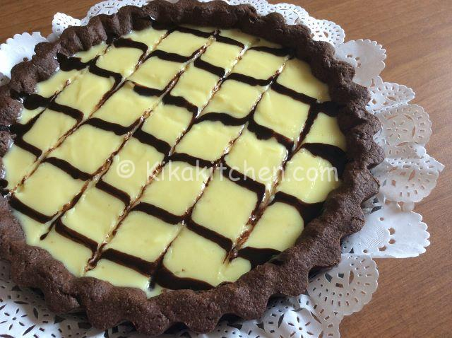 crostata con pasta frolla al cacao