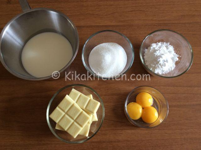 ingredienti crema al cioccolato bianco