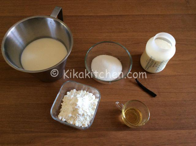 ingredienti crema al latte
