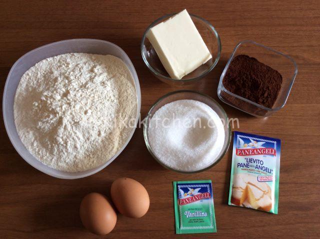 ingredienti pasta frolla al cacao