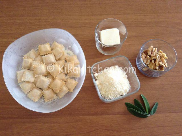 ingredienti ravioli burro salvia e noci