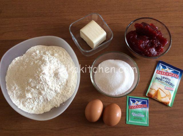 ingredienti sbriciolata alla marmellata