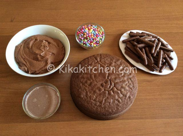ingredienti torta smarties