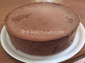Pan di Spagna al cioccolato alto. Ottimo da farcire.