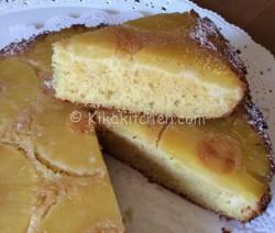 Torta all'ananas rovesciata soffice. Con ananas fresco o sciroppato