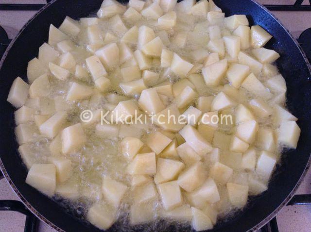 friggere patate per frittata