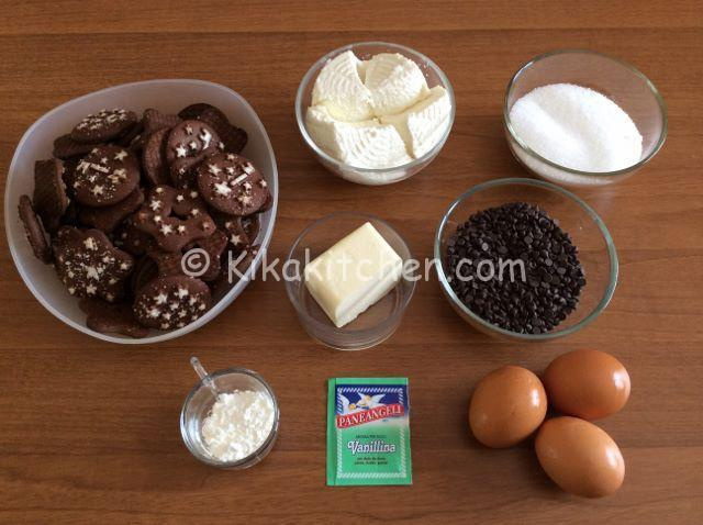ingredienti cheesecake ricotta e cioccolato