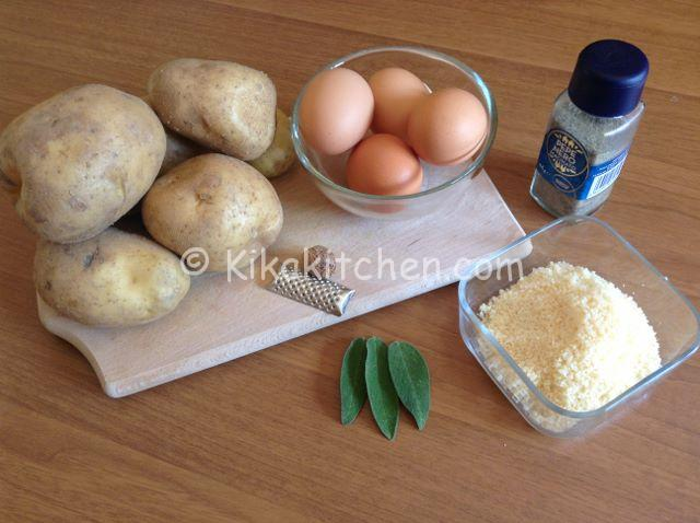 ingredienti frittata di patate