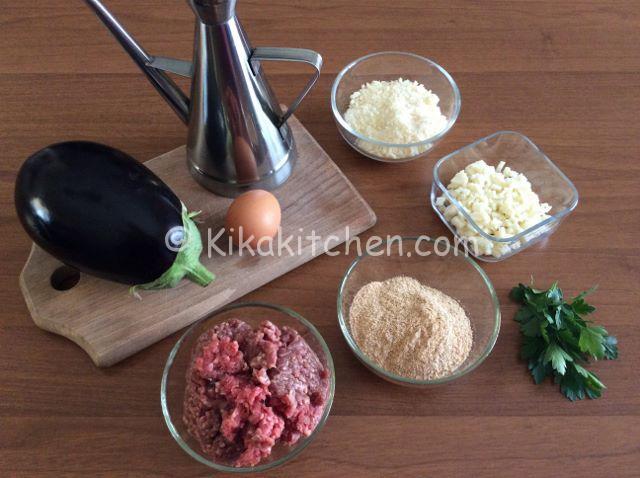 ingredienti involtini di melanzane con carne trita