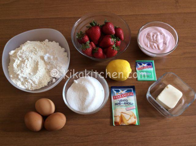 ingredienti torta alle fragole