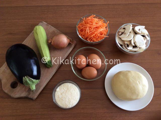 ingredienti torta salata con verdure