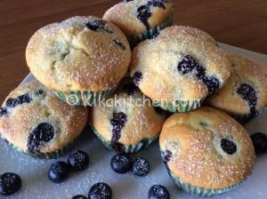 Muffin ai mirtilli (blueberry muffin). Ricetta passo passo
