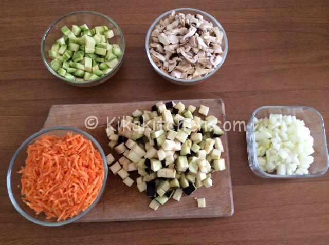 verdure per torta salata