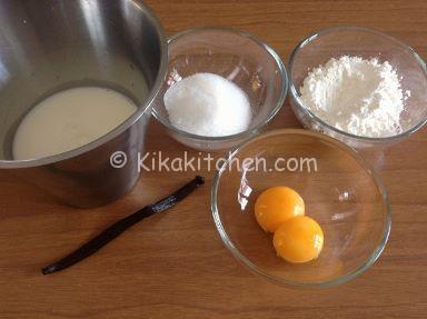 ingredienti crema pasticcera per cestini frutta