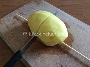 patate hasselback taglio