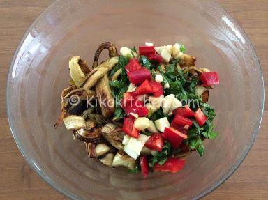condire insalata di melanzane