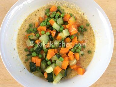 frittata leggera con verdure