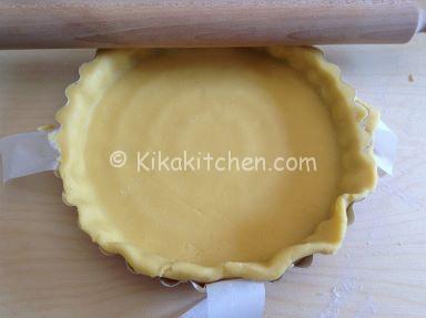 frolla crostata con crema al latte e nutella