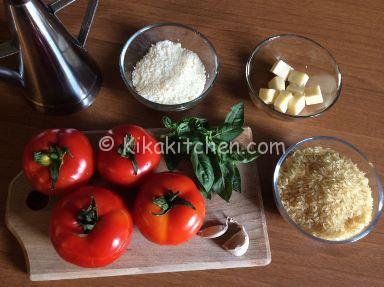 ingredienti pomodori ripieni di riso