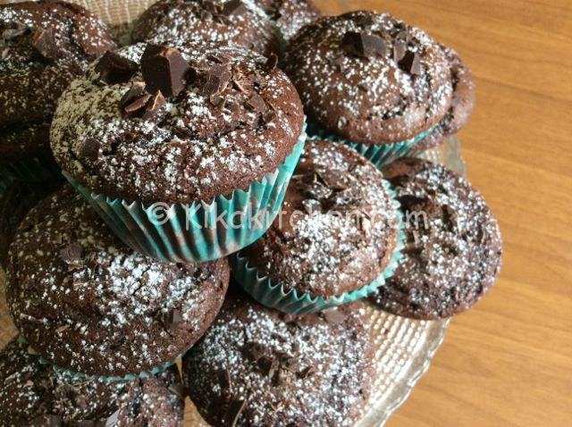 muffin al cioccolato alti